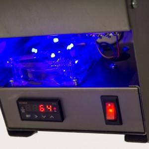 Blue LED Fan on QuikMelt Front Loading Kiln - Tabletop Furnace Company